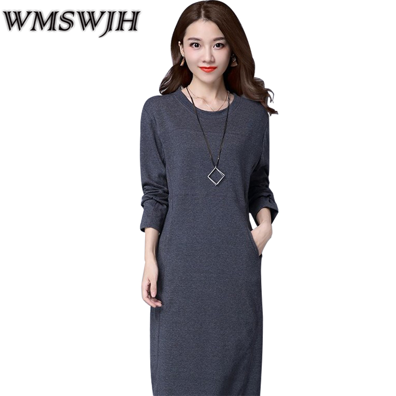 2019 Autumn winter Women Thickening Warm Dress Pack Hip Long Pencil Dresses Sexy Elegant Office Work