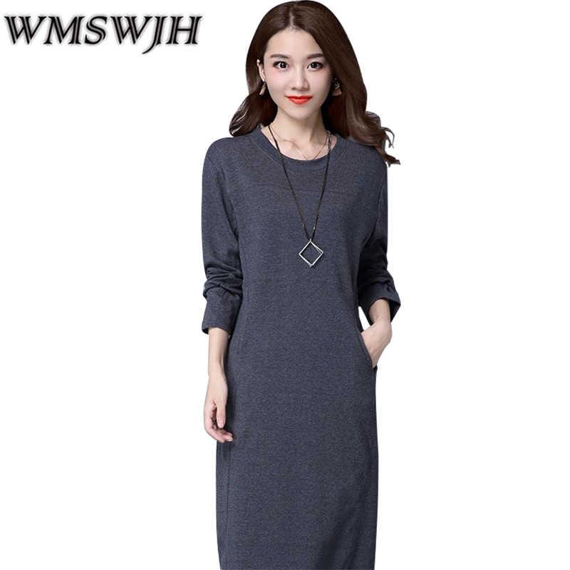 2c7fa5ecabe 2018 Autumn-winter Women Thickening Warm Dress Pack Hip Long Pencil Dresses  Sexy Elegant Office