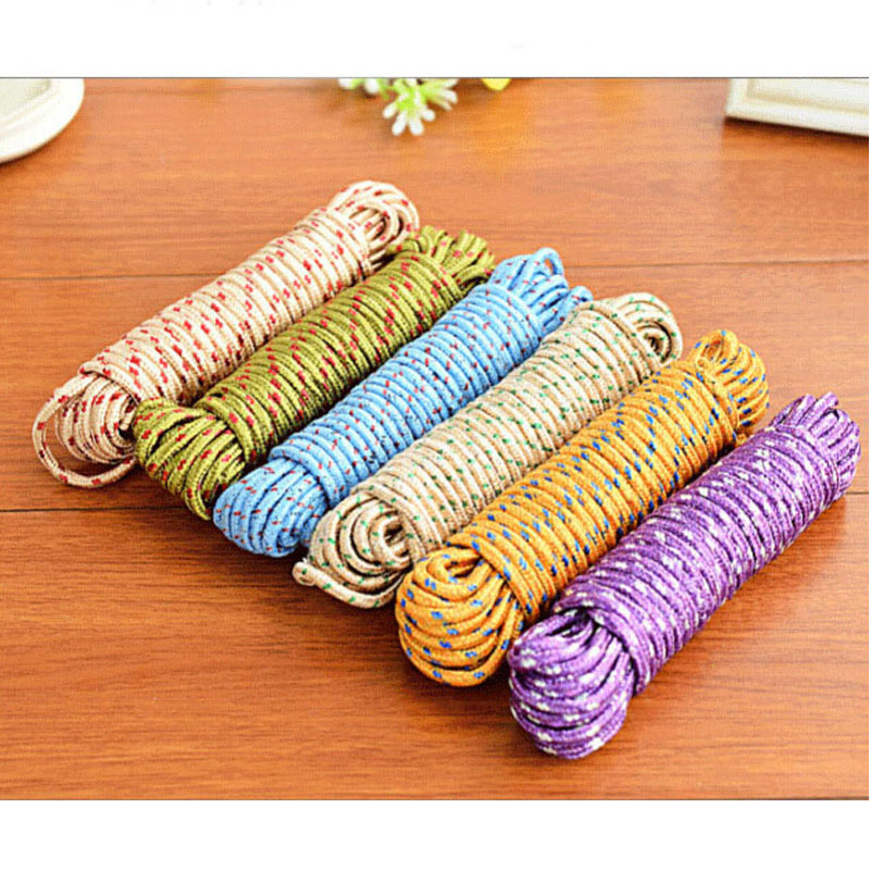 Image 4 - 10m portable outdoor camping traveling more nylon non slip windproof safety ropes drying rope home rope New pattern classicAB146-in Clotheslines from Home & Garden