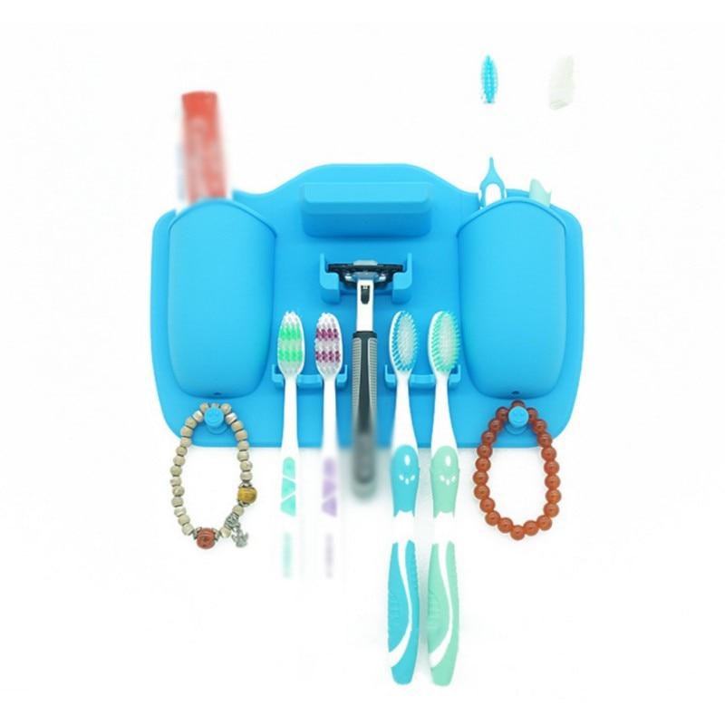 Nuovo elenco del silicone forte a parete spazzolino da denti supporto di Diverse senza soluzione di continuità bagno di stoccaggio di cortesia