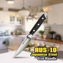 SS-0010 3,5 Zoll (87mm) Schälmesser 3 Schichten AUS-10 Japanischen Edelstahl G10 Griff Koch Küche Schwarz