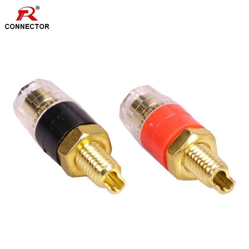 50pcs Copper Crystal Audio Speaker 4mm Banana PLUG Jack Long Thread connector