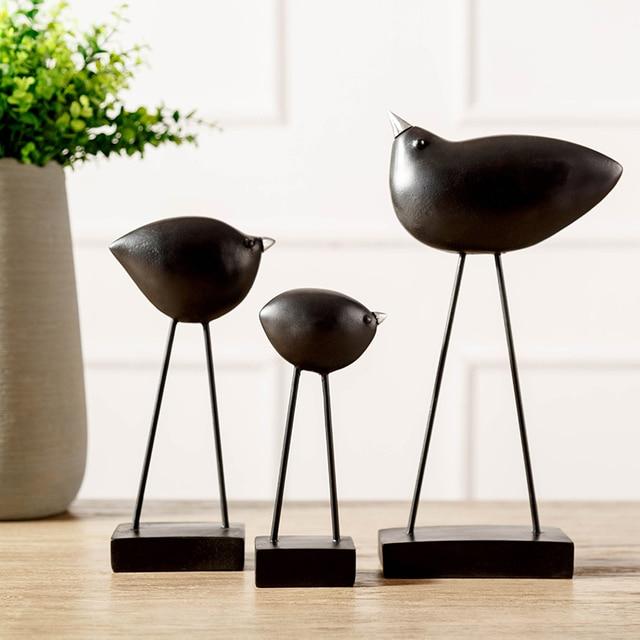 Простой Современный Творческий смолы птичка фигурки гостиной, спальни офис Desktop Подарки ремесла