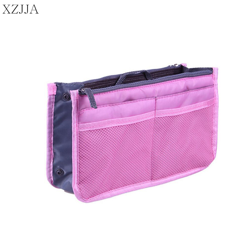 XZJJA Double Zipper Storage Bag Multi Functional Make Up Organiser Cosmetic Bags Women Men Casual Travel Pouch Makeup Handbag