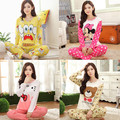 New Product Special 2017 Spring Autumn Long Sleeve Pajamas Woman Young Girl  Pure Cotton Sweet Home Wear Suit Women Pijamas