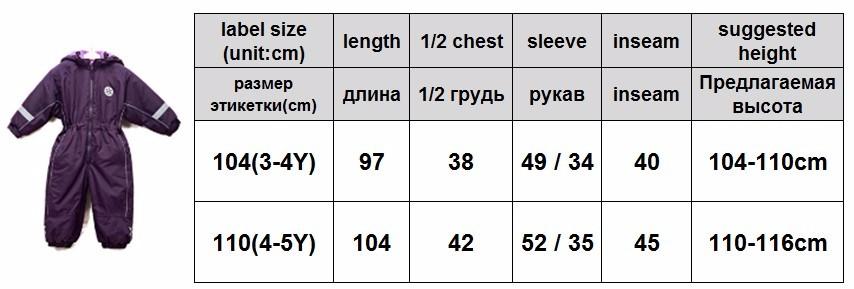 burgundy size chart