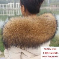 شتاء 100% حقيقية ريال الطبيعية الراكون الفراء طوق المرأة وشاح الأزياء الأوشحة الفاخرة الراكون الفراء معطف سترة الرقبة كاب r1