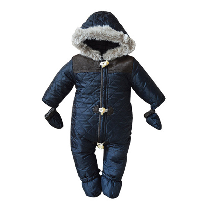 buy 2017 baby rompers winter baby boy snowsuit romper toddler cotton one piece. Black Bedroom Furniture Sets. Home Design Ideas