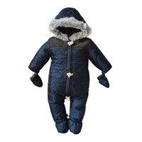 Winter Baby Boy Snowsuit Romper Bebe Cotton One Piece Suit Romper Baby Infant Winter Warm Hoody