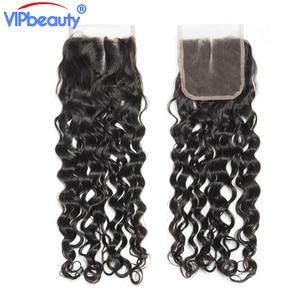 Image 4 - Vip יופי ברזילאי מים גל רמי שיער 4x4 תחרה סגר משלוח חלק 100% שיער טבעי סגירת טבעי צבע 12  18 אינץ