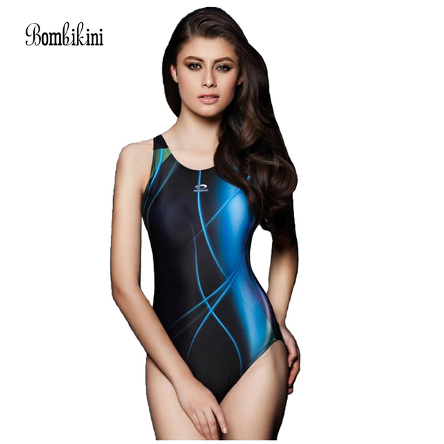 dccf39649633d Women's one piece professional athletic swimsuit racing triangle sport  bodysuits competition swimwear 2XL