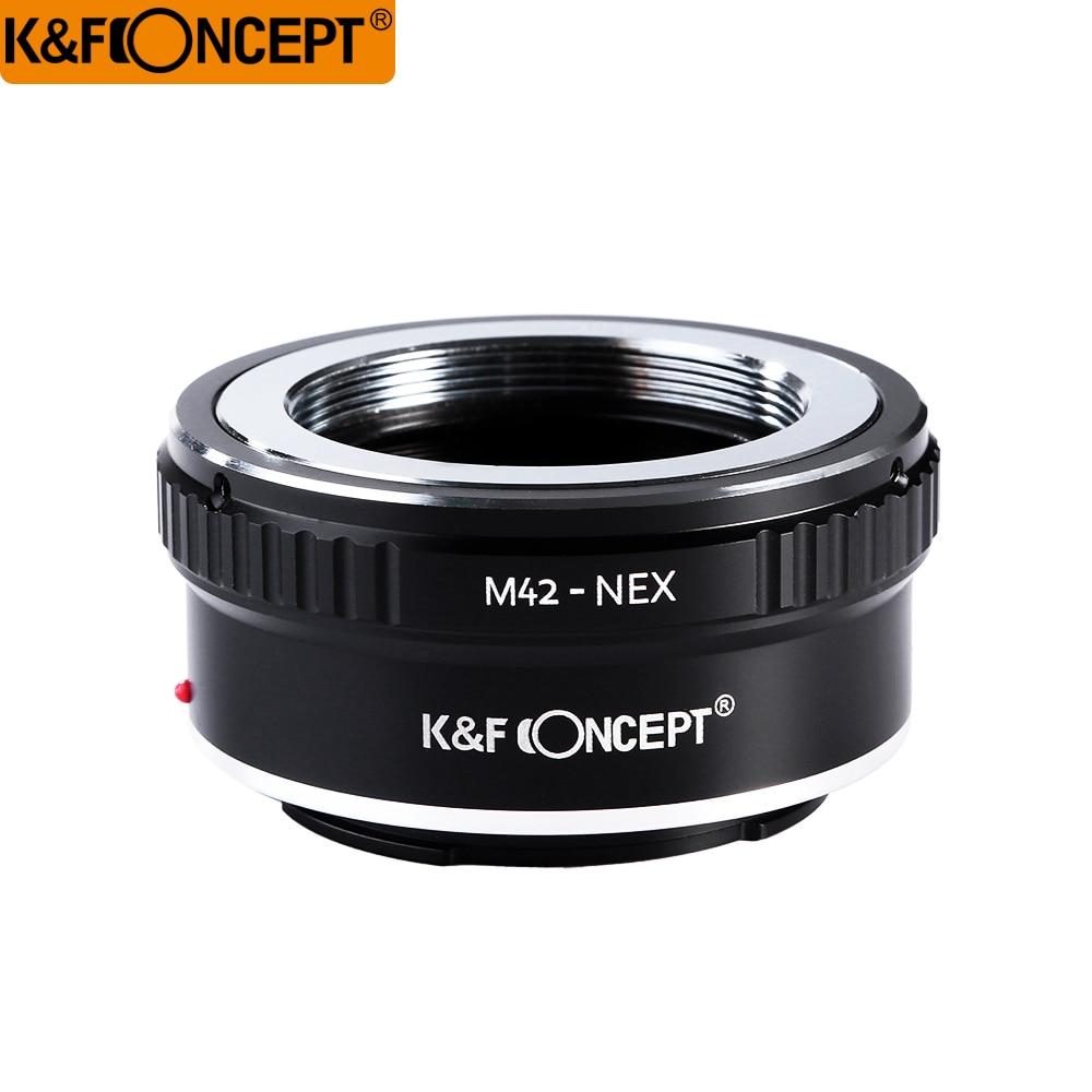 K&F CONCEPT M42-NEX Camera Lens Adapter Ring For M42 Screw Mount Lens to for Sony NEX E Mount CameraNEX3 NEX5 NEX5N NEX7 NEX-5R m42 lens for sony body adapter ring