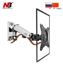 Soporte de pared de TV resorte de Gas NB F120 para Monitor LCD LED de movimiento completo de 17 27 pulgadas, soporte de brazo de aluminio, carga máxima de 7 kg