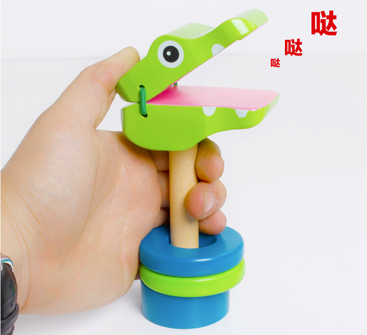 Learned 2017 Cute Wooden Rattle Pellet Drum Cartoon Musical Instrument Toy Gifts For Child Kids Random Color Baby Rattles & Mobiles Baby & Toddler Toys