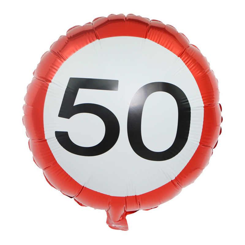 1 PC 18 นิ้ว 18th 30th 40th 50th 60th anniversary ฟอยล์ฮีเลียมบอลลูนสำหรับตกแต่งอุปกรณ์สำหรับผู้ใหญ่