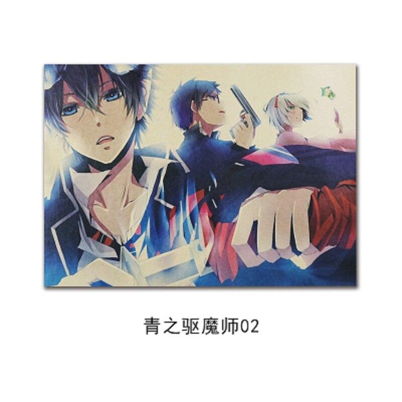 WXH,Japanese Cartoon Comic/ Ao no Exorcist B / kraft paper/Wall stickers/bar poster/Retro Poster/decorative painting 51x35.5cm