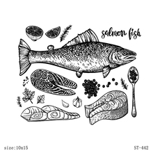 AZSG Delicious fish Clear Stamps/seal for DIY Scrapbooking/Card Making/Photo Album Decoration Supplies