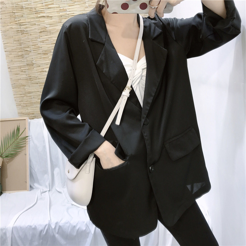 2019 new British style  suit jacket female elegant loose casual net red small suit spring and autumn wear  G192
