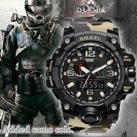 Топ люксовый бренд SMAEL мужские спортивные часы мужские камуфляжные хаки кварцевые часы мужские армейские военные наручные часы Relogio Masculino