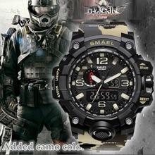 Top Luxusmarke SMAEL Männer Sportuhren männer Camouflage Khaki Quarzuhr Mann Armee Militär Armbanduhr Relogio Masculino