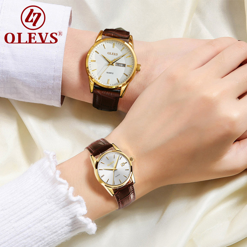 OLEVS Lovers' watch couples watches women men clock waterproof business quartz Wrist watches top brand luxury fashion watch saat luxury men s women quartz watch business watch men women watch