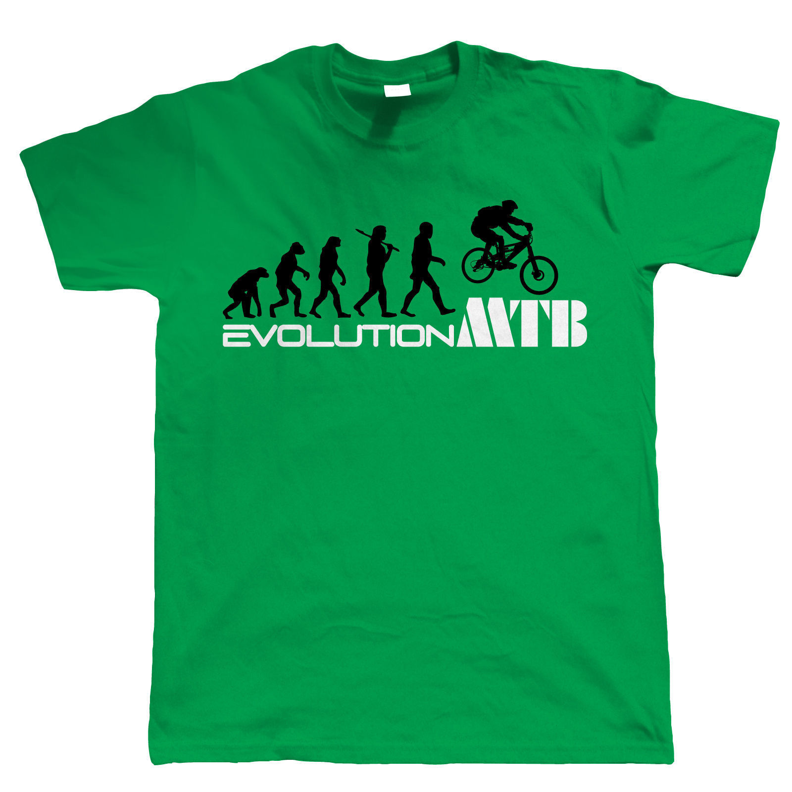 Evolution of Mountain Bikerer T-Shirt - Mountain Bikeer Gift for Dad Him 2018 New Arrival Men Fashion Print T shirt Plus Size