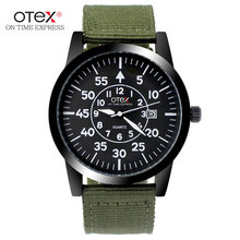 luxury brand men's casual uniform waterproof sports watch men quartz watches.