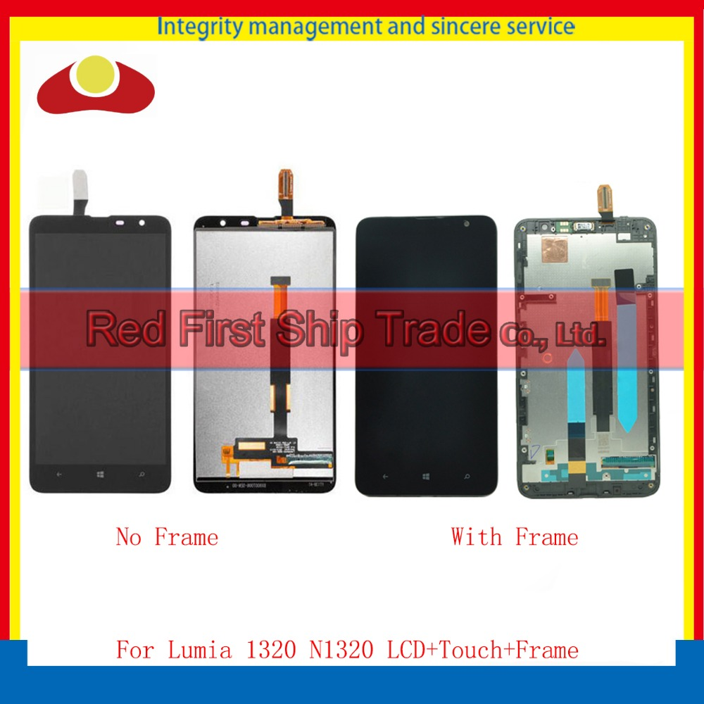 High Quality 6.0 For Nokia Lumia 1320 Full LCD Display Touch Screen Digitizer Sensor Panel Assembly Complete Panel With Frame high quality for iphone 4 4g 4s full lcd display touch screen digitizer sensor assembly complete with frame bezel white black