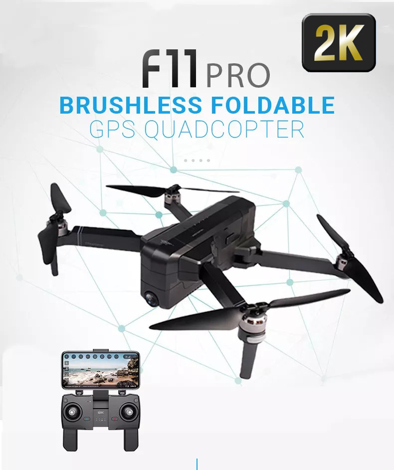 SJRC F11 Pro GPS 5G WiFi FPV 2K HD Camera Foldable Brushless RC Drone Quadcopter
