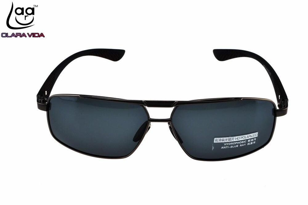 CLARA VIDA BRAND Mens Polarized Sunglasses TR90 Legs Shield Frame UV400 Polaroid Shopping Driving Outdoor Designer Sun Glasses