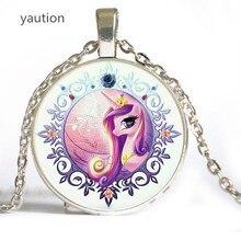 Лидер продаж! Ожерелье с единорогами. Цепочка с конем, животное кулон ожерелье, стекло кабошон ожерелье, искусство кулон ювелирные изделия, ручной работы.
