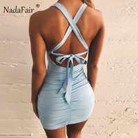Nadafair Sexy Off Schulter Backless Verband Party Kleid Frauen Geraffte Club Weiß Schwarz Weiß Mini Bodycon Sommer Kleid Vestidos