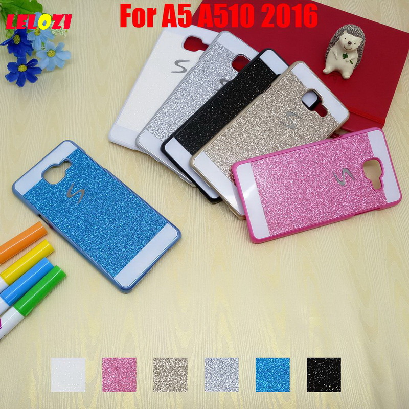 LELOZI Bling Shinning Glitter Hard PC Capinha Etui Case Cover For Samsung Galaxy A5 A510 ...