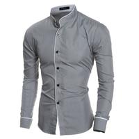 Men Clothes Dress Shirts 2017 Autumn Long Sleeve Shirt Men Slim Fit Brand Male Shirt Chemise