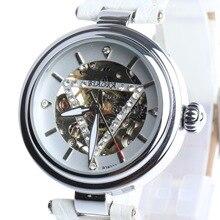 2016 НОВЫЕ марка BIAOKA часы роскошные часы скелет автоматические часы женщины натуральная кожа механические часы