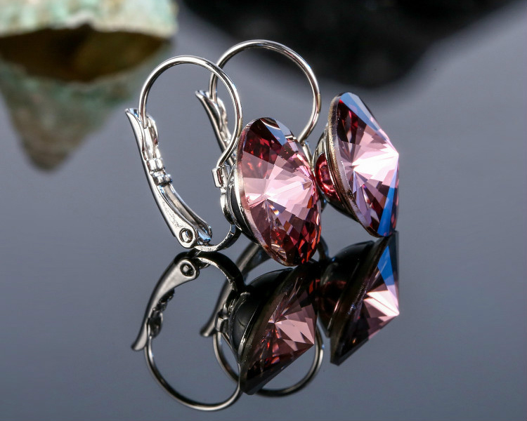 HTB1ddW.bv1H3KVjSZFBq6zSMXXa6 Warme Farben Earring for Women Made with Swarovski Crystal Round Stone Drop Earring Silver 925 Jewelry Earring Gift for lady