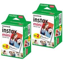 Pacotes de 2 40 Folhas Blanc Fuji Fujifilm Instax Mini Film Para Mini LiPlay 11 9 8 7s 70 90 25 LIGAÇÃO Impressora Impressora de Câmera Instantânea