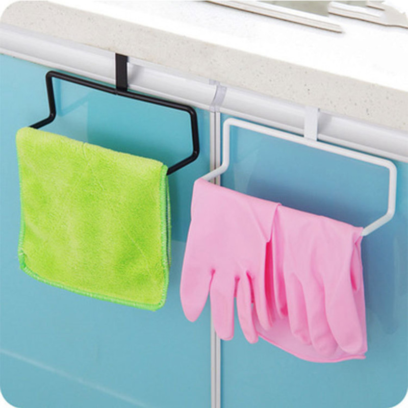 Kitchen Organizer Towel Rack Hanging Holder Rail Organizer Bathroom Cabinet Cupboard Hooks For Kitchen Supplies Accessories