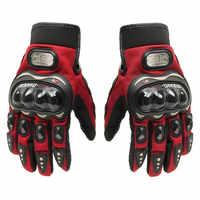 ¡Gran oferta! El verano y el invierno la dedo moto rcycle guantes para moto luvas de cuero de motocrós moto rbike guantes de carreras de motos