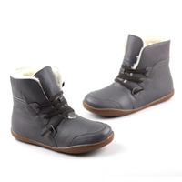 Women S Boots Winter Shoes Wool Genuine Leather Shoes Round Toe Lace Up Ladies Ankle Boots
