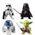 Disney Star Wars 4pcs/set Darth Vader Yoda R2-D2 Stormtrooper 6cm Action Figure Anime Decoration Collection Figurine Toys model