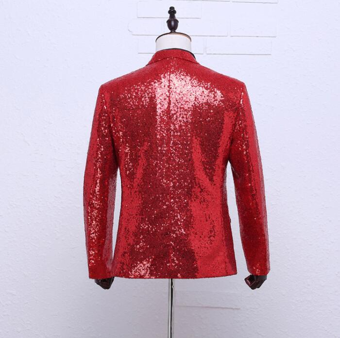 ασημένιο παλτό σακάκι blazer χορεύτρια - Ανδρικός ρουχισμός - Φωτογραφία 6