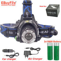 Newest Cheap Hot Sale Bicklight Headlamp 1600 Lumens CREE XM L T6 LED Headlamp Headlight Charger