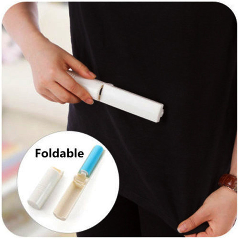 Portable Washable Lint Pill Dust Hair Remover Cloth Sticky Roller Brush Cleaner