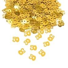 Confettis métallique numérique doré, 18 30 40 50 60 numéros, pour anniversaire, pour adulte, mariage