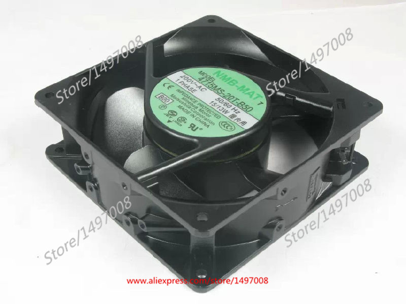 NMB-MAT 4715MS-20T-B50 B00 AC 220V 15W 120x120x38mm Server Square Fan free shipping for nmb 4715ms 10t b40 b00 ac 100v 14w 120x120x38mm server cooling square fan page 7