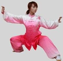 Customize Chinese Tai chi clothing Taiji sword uniform kungfu performance suit embroidered for men women boy girl kids children