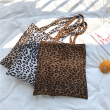 MEETSELF New 2018 Canvas Bag Is Fashionable And Easy To Go With Casual One-Shoulder Personal Leopard Print 7745