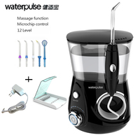 Waterpulse V660H Dental Water Flosser Black Pro Oral Irrigator Dental Floss Irrigation Clean Massage Tooth Floss Oral Hygiene