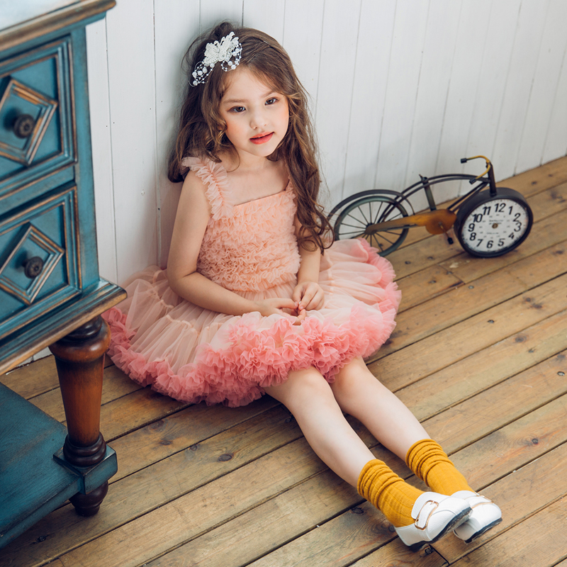 2018 autumn girl dress pink baby girl clothes lace flower tutu princess kids dresses for girls vestido infantil kid clothes kids fashion comfortable bridesmaid clothes tulle tutu flower girl prom dress baby girls wedding birthday lace chiffon dresses